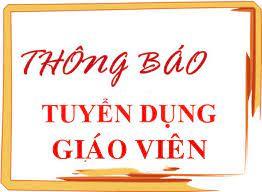 Tuyển dụng giáo viên (UBND huyện Văn Lâm)
