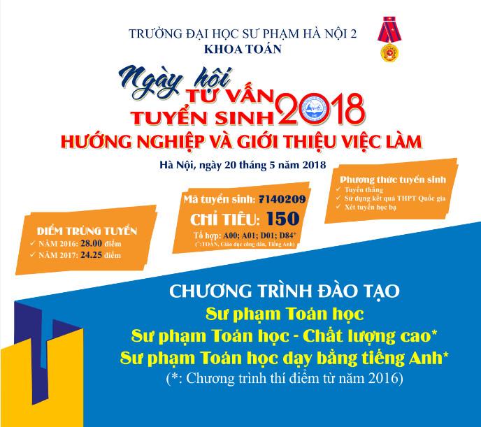 Thông tin tuyển sinh Khoa Toán năm 2018 - 2019